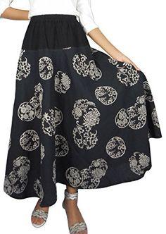 Bonya Women's Bohemian/Hippies Maxi Swing Skirts - (Black) Bonya Collections http://www.amazon.com/dp/B019EBDBEC/ref=cm_sw_r_pi_dp_V8eCwb05JN6YS