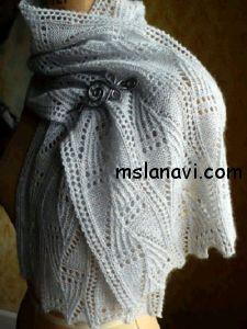 Белый ажурный шарф спицами  СХЕМА http://mslanavi.com/2014/03/belyj-azhurnyj-sharf-spicami/