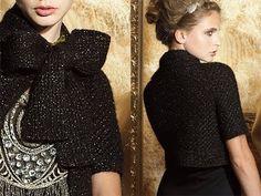 #19 Bow Neck Cardigan, Vogue Knitting Holiday 2010 - YouTube