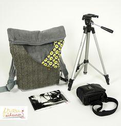 Rucksack für Erwachsene Schnittmuster und Nähanleitung Ebook in zwei Größen von frau scheiner für Fotoausrüstung, Citybag oder Kuriertasche