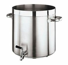 "World Cuisine 11102-50 Stock Pot w/ Tap, 105-5/8-qt, No Lid, Stainless, Each by World Cuisine. $1321.07. World Cuisine 11102-50 Stock Pot w/ Tap, 105-5/8-qt, No Lid, Stainless. Stockpot, 105-5/8 quart, 19-5/8"" diameter x 19-5/8"" H, with tap, stainless steel, no lid, Grand Gourmet Series #1100"
