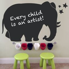 Elephant Chalkboard - Kids Wall Decal