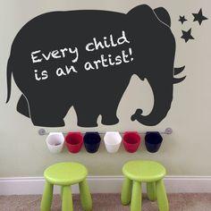 Elephant Chalkboard - Kids Wall Decal