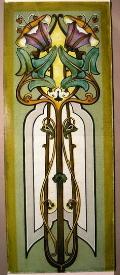 Art Nouveau Glass Screen.