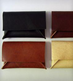 Mini Leather Clutches <3