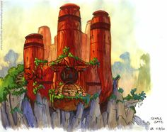 I believe this is some of the coolest art work from Jak and Daxter.