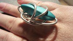 Zelfgemaakte ring alu-wire