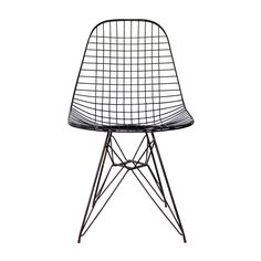 Eames Wire-Mesh Side Chair | From a unique collection of antique and modern chairs at https://www.1stdibs.com/furniture/seating/chairs/