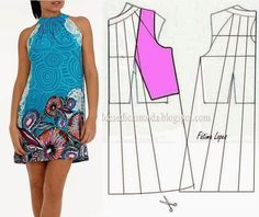 Los vestidos veraniegos y los sarafanes con los patrones simples. Diy Clothing, Sewing Clothes, Clothing Patterns, Dress Patterns, Fashion Sewing, Diy Fashion, Ideias Fashion, Costura Fashion, Techniques Couture