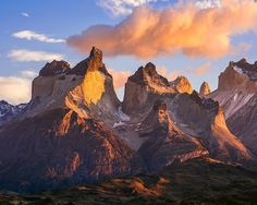 Sunrise at the Horns of Paine Torres del Paine National Park in Chilean Patagonia. by craig.holloway