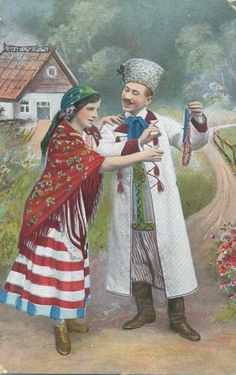 Old Polish folk illustration