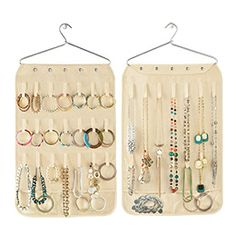 The Container Store  Canvas Necklace & Bracelet Organizer