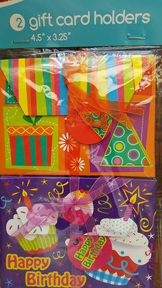 2 Gift Card Holders 4.5' x 3.25' Birthday and Party Time * Details can be found by clicking on the image.