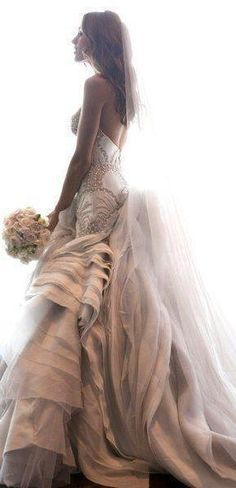 love this wedding dress, princess style.. #wedding #moments
