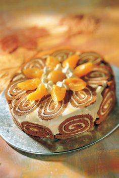 Mango-aprikoosicharlotta   Venäjä   Pirkka #food #cakes Panna Cotta, Sweet Tooth, Cheesecake, Deserts, Pie, Sweets, Baking, Ethnic Recipes, Foods