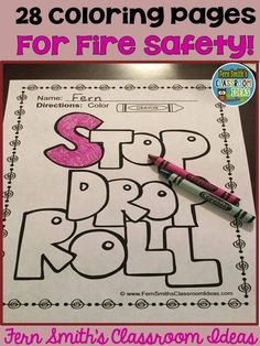Fire Prevention And Safety Fun Color For Printable Coloring Pages Free