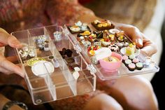 Michele's tiny food thingies by roboppy, via Flickr  Tiny food is so cool!