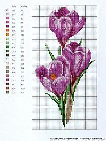 Znalezione obrazy dla zapytania haft krzyżykowy wzory kwiaty