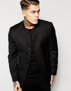 ASOS | ASOS Slim Fit Blazer With Mandarin Collar at ASOS