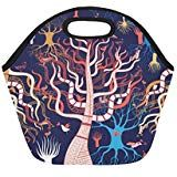 Insulated Lunch Tote Bag Magic Tree With Birds Reusable Neoprene Portable Lunchbox Handbag For Men Women Adult Kids Boys Girls Insulated Lunch Tote, Lunch Tote Bag, Handbags For Men, Kids Boys, Boy Or Girl, Lunch Box, Birds, Magic, Women