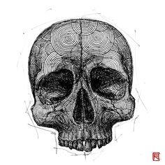 -Skull- from human body study series by Paintings Tumblr, Art Paintings, Illusions Mind, Body Study, Best Bow, Drawing Studies, Healthy Living Quotes, Illusion Art, Painting Videos