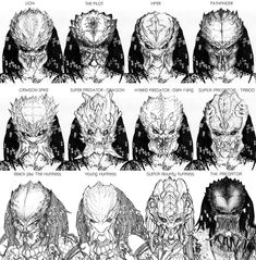 Concept Art of Aliens Vs. Predator by Corruption Solid Alien Vs Predator, Predator Cosplay, Wolf Predator, Predator Hunting, Predator Movie, Predator Alien, Predator Comics, Arte Alien, Alien Art