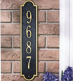 Whitehall Products Richmond Vertical Standard Address Plaque - Address Plaques | MailboxUniverse.com
