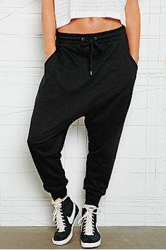 Sparkle & Fade Drop Crotch Slub Sweat Pants