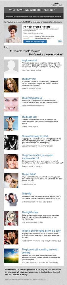 Infographic: The most common profile picture mistakes