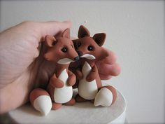 custom fox wedding cake topper by theaircastle on Etsy
