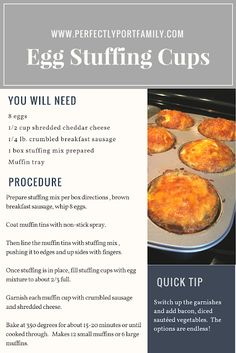 25 Easy Meal Ideas Easy egg stuffing bake recipe and 25 more easy meal ideas. Plus, free meal idea printable . Easy Egg Recipes, Baking Recipes, Sausage Breakfast, Breakfast Recipes, Easy Family Meals, Easy Meals, Turkey Lunch Meat, Homemade Chicken Salads, Grilled Cheese Avocado
