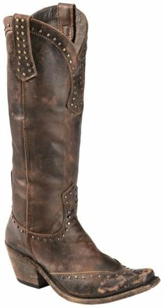 Liberty Black Toscano Studded Cowgirl Boots - Square Toe - Sheplers