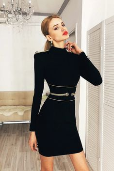 Women s Special Occasion Black Long Sleeve Bandage Dress Club Night Out  SL15678 Dresses With Sleeves dc5e06f7611b