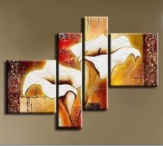 Enchanting Modern Abstract Painting High Quality Oil Painting For Bed Room Lily… Modern Canvas Art, Contemporary Wall Art, Canvas Wall Art, Modern Oil Painting, Oil Painting Abstract, Art Floral, Modern Art Styles, Flower Artwork, Flower Paintings