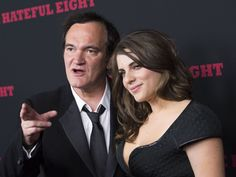 Writer & director Quentin Tarantino and girlfriend Courtney Hoffman attend the 'Hateful Eight' premiere in Hollywood, California, on December 7, 2015.   Valerie Macon, AFP/Getty Images