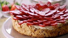 Get Strawberry Meringue Cake (Mostachon) Recipe from Food Network