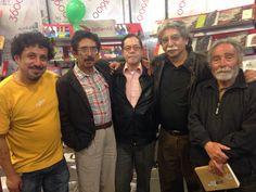 Con amigos escritores, Willy Camacho, Manuel Vargas, Álvaro Diez y Adolfo Cárdenas