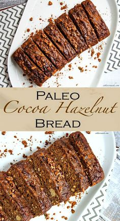 paleo cocoa molasses hazelnut bread. Grain free baking at it's finest! Flour chocolate goodness that great for breakfast or dessert!