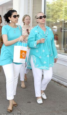 Twins! Does Huma have the edge of becoming first lady over Chelsea if Hillary gets elected? Hillary knows first hand, of course, just how important the role of first lady is. 'She firmly believes either Huma or Chelsea could handle the duties of the first lady with aplomb,' says a source. There's no law that says a first lady must be a president's mate - or live in the White House, says presidential authority Carl Sferrazza Anthony
