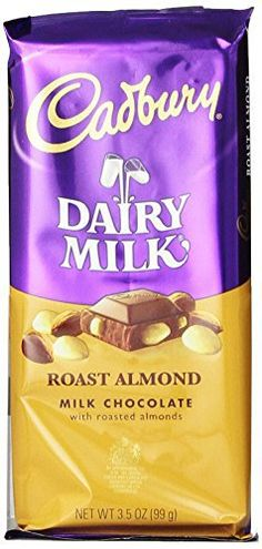 Cadbury Premium Milk Chocolate with Roasted Almonds, 3.5-Ounce Bars (Pack of 14) - http://bestchocolateshop.com/cadbury-premium-milk-chocolate-with-roasted-almonds-3-5-ounce-bars-pack-of-14/