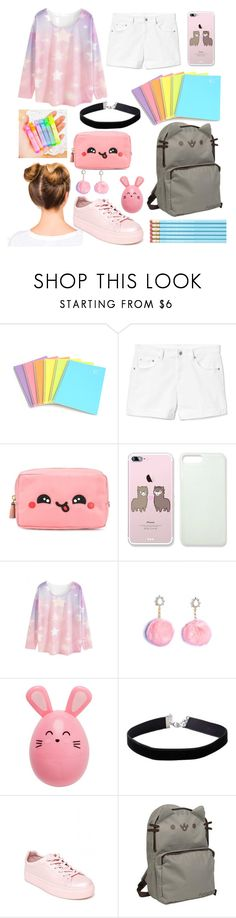 """""""Kawaii School Day"""" by thegreendino ❤ liked on Polyvore featuring Gap, Anya Hindmarch, WithChic, Miss Selfridge, Madden Girl and Pusheen"""