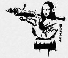 Banksy - Mona Lisa Mujahid