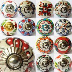 ARTISAN MIX MATCH Vintage Shabby Chic Ceramic Knobs Door Handles Cupboard Drawer in Home, Furniture & DIY, DIY Materials, Doors & Door Accessories | eBay
