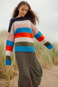 Urban Outfitters – Mehrfarbig gestreifter Pullover