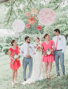 Whimsical Flower Farm Wedding Inspiration #wedding #inspiration #floral #coral