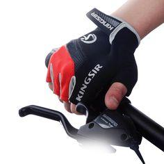 1 Pair Terbuka Olahraga Sarung Tangan Musim Panas Bersepeda Sepeda Sepeda Kuda Gym Kebugaran Setengah Jari Sarung Tangan Shockproof Mittens S/M/L/XL/XXL