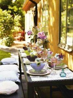 Elegant outdoor dining