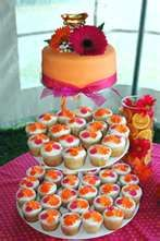 Pink and orange wedding idea
