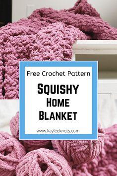Quick Crochet Blanket, Crochet Throw Pattern, Crochet For Beginners Blanket, Afghan Crochet Patterns, Chunky Knit Throw Blanket, Crochet Throws, Blanket Yarn, Throw Blankets, Crochet Stitches