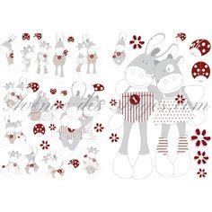 Stickers déco Paquito et Lolita - Noukies: personnalisez l'univers de votre enfant...  Make baby's nursery unique  http://www.avenuedesanges.com/fr/noukies-paquito-et-lolita/2355-stickers-deco-paquito-et-lolita-noukies-5413042114881.html